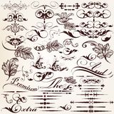 Collection of vector retro decorative flourishes Royalty Free Stock Image