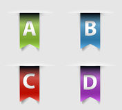 Collection of vector retro ribbons Royalty Free Stock Image