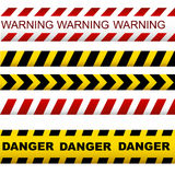 Collection vector ribbons designed for investigators,forensic ex Stock Images