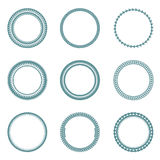 Collection of vector rounded labels. Stock Photos