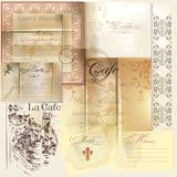 Collection of vector scrapbooking elements paper, stamps and sig Stock Image