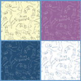 Collection of vector seamless patterns Royalty Free Stock Images