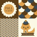 Set of Fall inspired Patterns and posters. Royalty Free Stock Photography