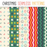 Collection of vector seamless patterns. Stock Images