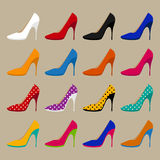 Collection of vector shoes Stock Photo