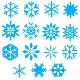 A collection of vector snowfla Royalty Free Stock Photos