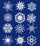 Collection of vector snowflakes Royalty Free Stock Photos