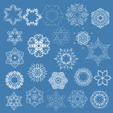 Collection of vector snowflakes Stock Image