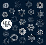 Collection of vector snowflakes Stock Photos