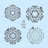 Collection of vector snowflakes Stock Images