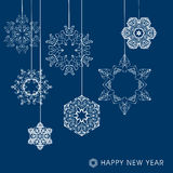 Collection of vector snowflakes Royalty Free Stock Photography
