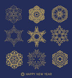 Collection of vector snowflakes Royalty Free Stock Photo