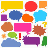 Collection of vector speech and thought communication bubbles Royalty Free Stock Images