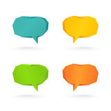 Collection of vector speech and thought communication bubbles Stock Images
