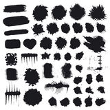 Collection of vector splashes and drops Royalty Free Stock Images