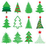 Collection of vector spruce Stock Images