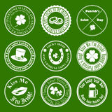 Collection of vector st. patrick`s logos Royalty Free Stock Image