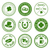 Collection of vector st. patrick's logos Royalty Free Stock Photos
