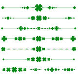 Collection of vector st. patricks monograms Stock Photos