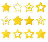 Collection of vector stars Royalty Free Stock Photography