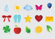 Collection of vector stickers Royalty Free Stock Photos