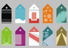 Collection of vector tags Royalty Free Stock Images