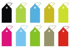 Collection of vector tags Stock Images