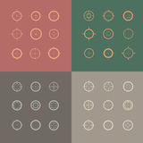 Collection of vector targets. Stock Photography