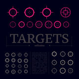 Collection of vector targets. Royalty Free Stock Photo