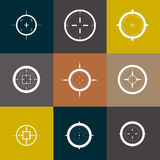 Collection of vector targets. Stock Images