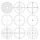 Collection of vector targets, Different crosshair icons Royalty Free Stock Photo