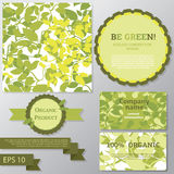 Collection of vector templates for ecology concept Royalty Free Stock Photo