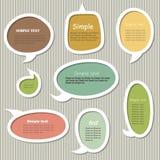 Collection of vector text frames. Collection of cute speech bubbles. Vector design elements Stock Photos