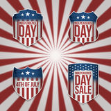 Collection of vector 4th of July Banners. For Your Design. Independence Day Labels Set Stock Image