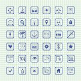 Collection of vector travel icons Stock Photography