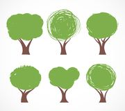 Collection of vector tree icons Stock Image