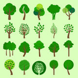 Collection of vector tree icons Stock Photography