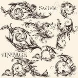 Collection of vector vintage decorative flourishes Royalty Free Stock Photos