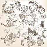 Collection of vector vintage decorative swirls for design Royalty Free Stock Photos