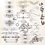 Collection of vector vintage design elements and page decoration Royalty Free Stock Images