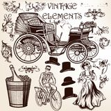 Collection of vector vintage elements and flourishes Royalty Free Stock Photo