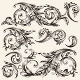 Collection of vector vintage flourishes Stock Image