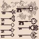 Collection of vector vintage  keys for design Stock Photography