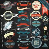 Collection of vector vintage labels Royalty Free Stock Photography