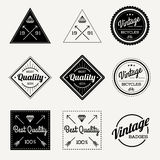 Collection of Vector Vintage Retro Label Set of 9. Vintage Retro Style Premium Design Royalty Free Stock Photography