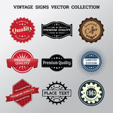 Collection of vector vintage signs and logos Royalty Free Stock Photos