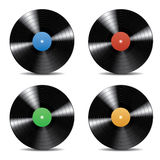 Collection of Vector Vinyl Records. Realistic vinyl record for all party, dance, pop, rock, classical, jazz, holiday and all event posters and presentations Stock Photo