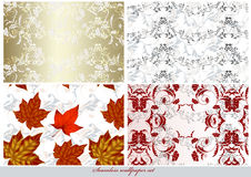 Collection of vector wallpaper Stock Image