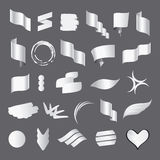 Collection of vector white flags Stock Photo