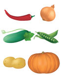 Collection of vegetables 2 Royalty Free Stock Photo